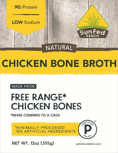 SunFed Ranch Chicken Bone Broth Perspective: front
