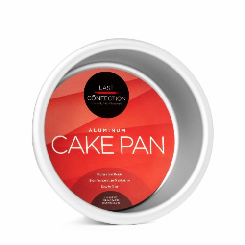4  x 2  Round Aluminum Cake Pan by Last Confection Perspective: front