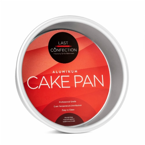 6  x 2  Round Aluminum Cake Pan by Last Confection Perspective: front
