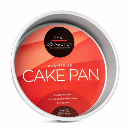8  x 2  Round Aluminum Cake Pan by Last Confection Perspective: front
