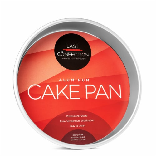 10  x 2  Round Aluminum Cake Pan by Last Confection Perspective: front