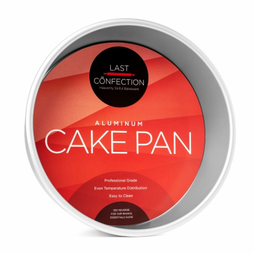 9  x 3  Round Aluminum Cake Pan by Last Confection Perspective: front