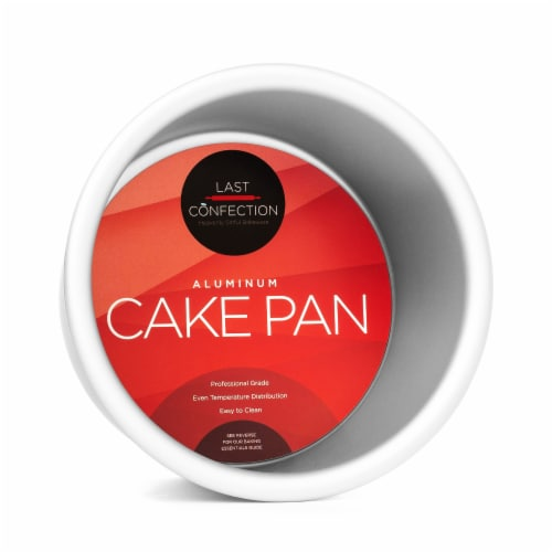 4  x 3  Round Aluminum Cake Pan by Last Confection Perspective: front