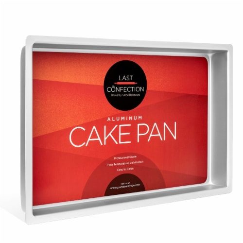 7  x 11  x 2  Deep Rectangular Aluminum Cake Pan by Last Confection Perspective: front