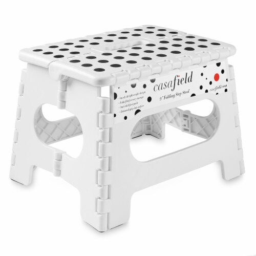 """9"""" Folding Step Stool with Handle by Casafield Perspective: front"""