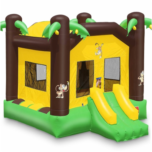 17'x13' Commercial Inflatable Jungle Bounce House w/ Blower by Cloud 9 Perspective: front