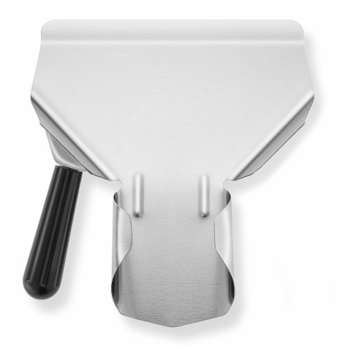 Commercial French Fry Scoop, Left - Stainless Steel Bagger & Scooper Perspective: front