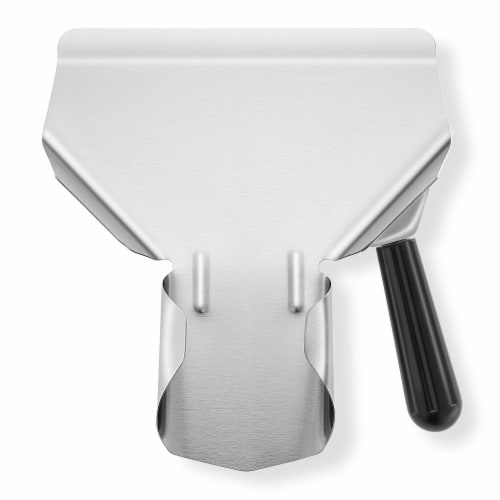 Commercial French Fry Scoop, Right - Stainless Steel Bagger & Scooper Perspective: front