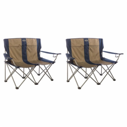 Kamp-Rite 2 Person Outdoor Tailgating Camping Double Folding Lawn Chair (2 Pack) Perspective: front