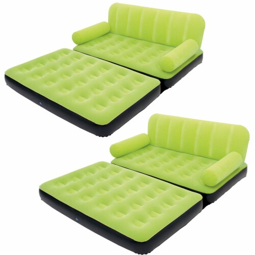 Bestway Multi Max Air Convertible Couch Sidewinder AC Air Pump, Green (2 Pack) Perspective: front