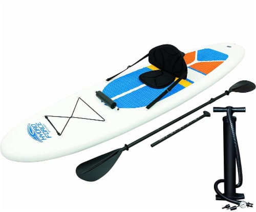 Bestway Hydro-Force White Cap Inflatable SUP Stand Up Paddle Board (4 Pack) Perspective: front