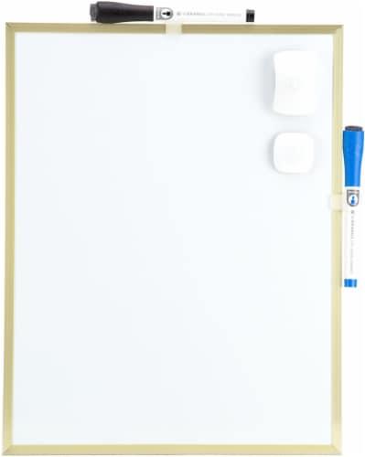 U Brands Gold Aluminum Frame Magnetic Dry Erase Board - White/Gold Perspective: front