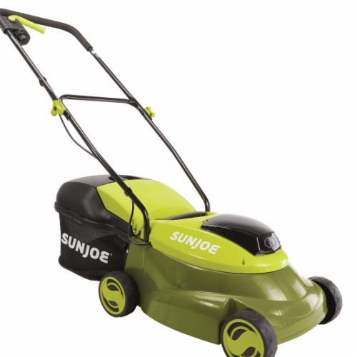 Snow Joe & Sun Joe MJ24C-14-XR 14 in. 5A 24V Cordless Lawn Mower with Brushless Motor - Green Perspective: front