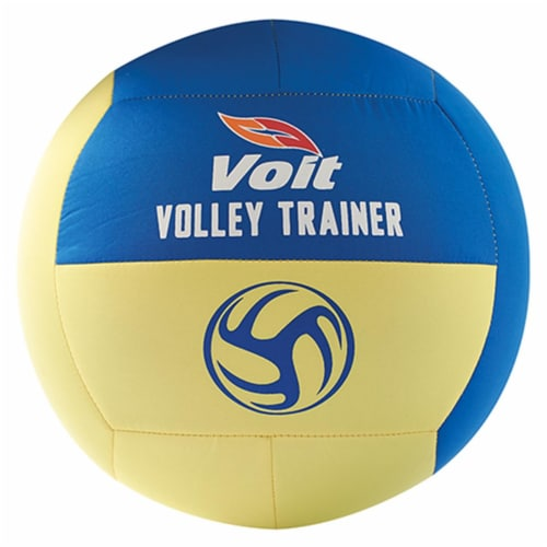 Voit VVBBUDVT Budget Volley Trainer Volleyball, Blue & Yellow Perspective: front