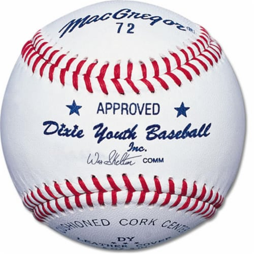 MacGregor MCB72CXX #72 Official Dixie Youth Baseball Perspective: front