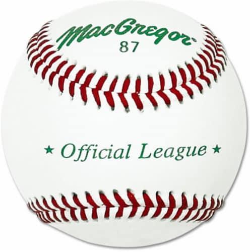 MacGregor MCB87SPX Mac #87 Official Split Leather Baseball Perspective: front