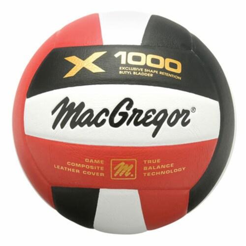 MacGregor MCV1000W X1000 Indoor & Outdoor Volleyball, White Perspective: front