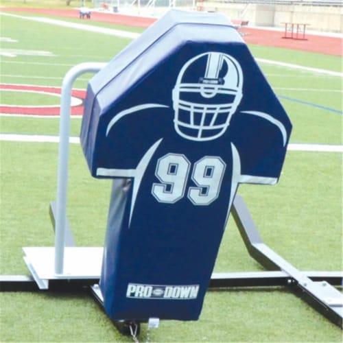 Pro Down 1296259 Football Man Sled Pad - Royal Blue Perspective: front