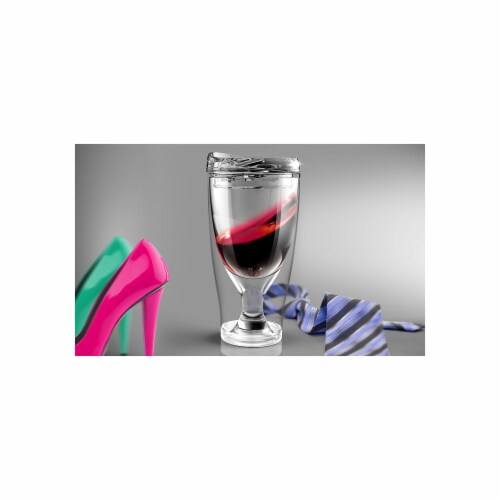 Asobu IV3G RED Chill Vino 2 Go Wine Chiller, Red Perspective: front