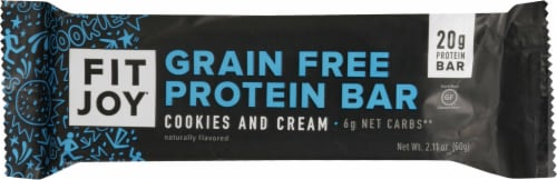 FitJoy Cookies & Cream Protein Bar Perspective: front