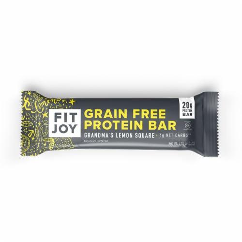 FitJoy Grandma's Lemon Square Grain Free Protein Bar Perspective: front