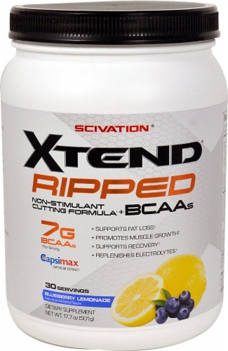 Scivation  XTEND® Ripped   Blueberry Lemonade Perspective: front