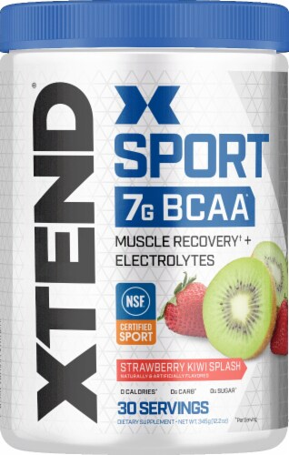 Xtend Sport Strawberry Kiwi Splash Dietary Supplement Powder Perspective: front