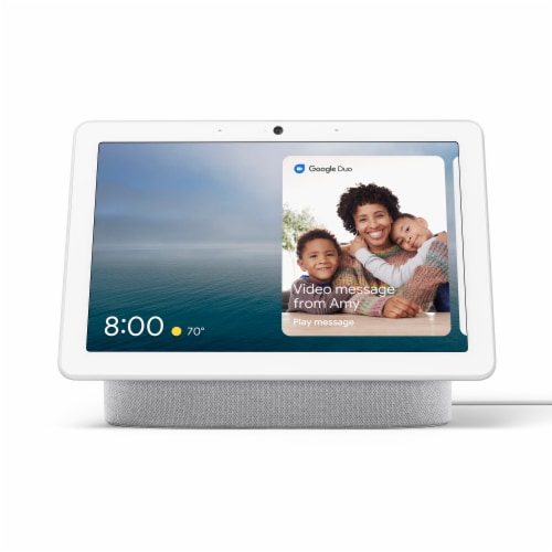 Google Nest Hub Max - Chalk Perspective: front