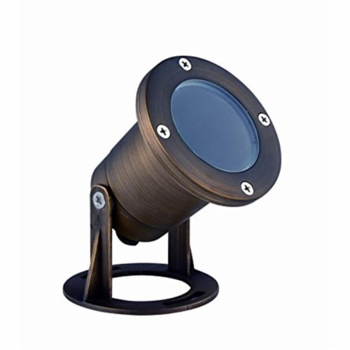 Elitco Lighting U001 3.75 x 3.87 in. Landscape-Spotlights Spot - Antique Brass Perspective: front