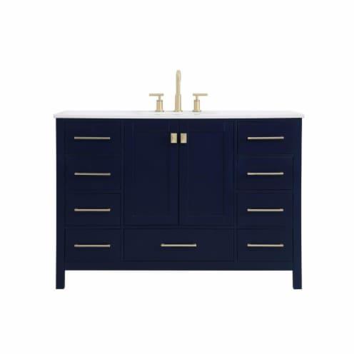 Elegant Decor VF18848BL 48 in. Irene Single Bathroom Vanity, Blue Perspective: front