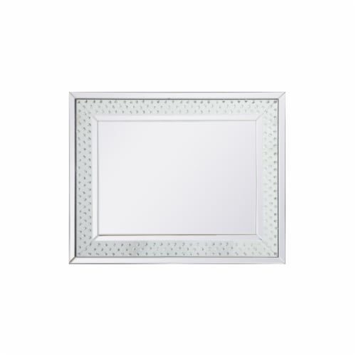 Sparkle collection crystal mirror 32 x 40 inch Perspective: front