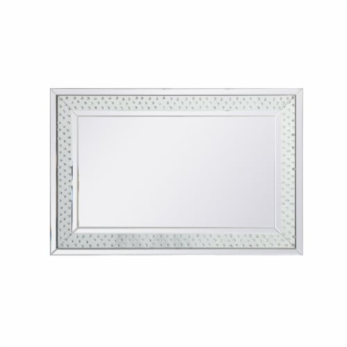 Sparkle collection crystal mirror 32 x 48 inch Perspective: front