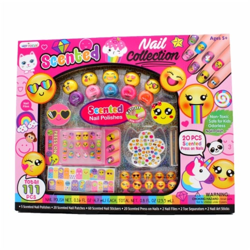 Hot Focus Scented Nail Art Collection - 111 Piece, Emoji Perspective: front