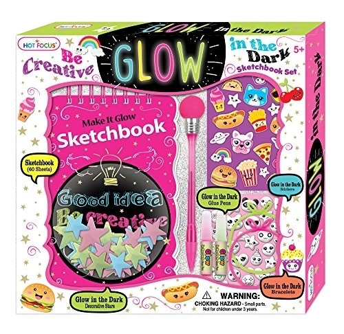 Hot Focus 262FD Glow-in-the-Dark Art Crafty Set, Green/Pink/Blue Perspective: front