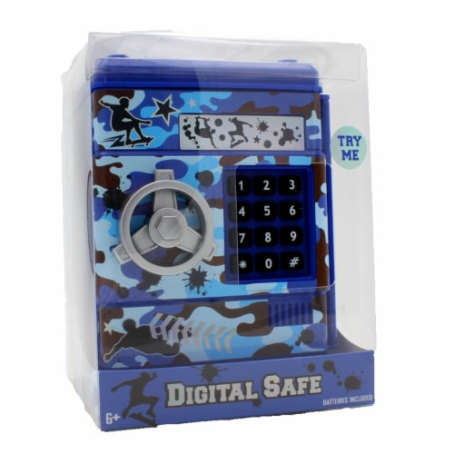 Hot Focus Digital Money Safe Toy Bank with Electronic Password Lock, Camo Perspective: front
