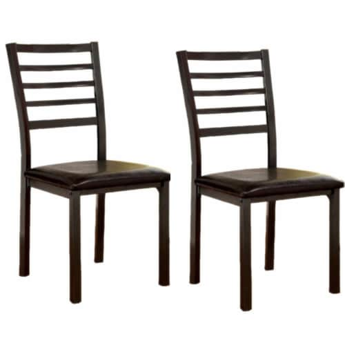 Benzara Colman Transitional Side Chair 2 Pack - Black Perspective: front