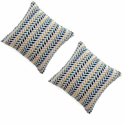 Benzara Contemporary Drop Pillows 2 Pack Perspective: front