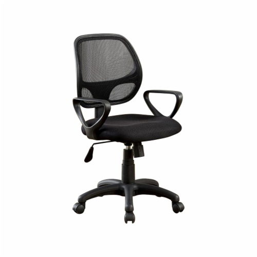 Benzara Sherman Contemporary Style Office Chair - Black Perspective: front