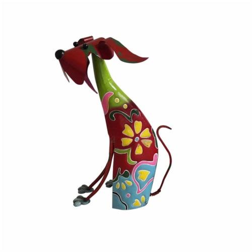 Benzara Metal Dog Sculpture Decor Perspective: front