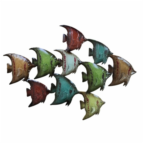 Three Dimensional Hanging Fish Wall Decor Perspective: front