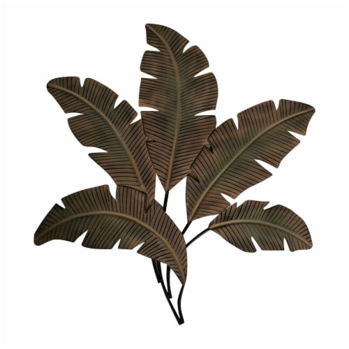 Benzara Metal Hanging Palm Leaf Perspective: front
