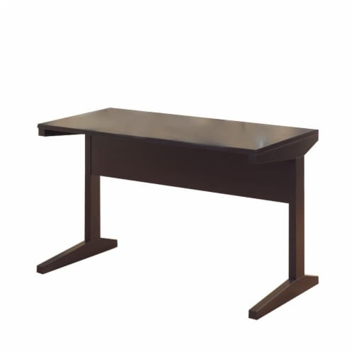 Benzara Well-Designed All-Around Desk - Dark Brown Perspective: front