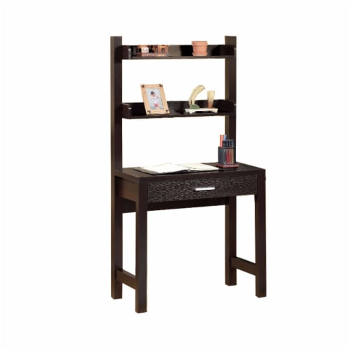 Benzara Contemporary Style Desk - Dark Brown Perspective: front