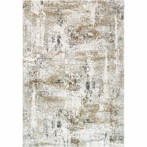 Dynamic Rugs QU71027050190 6 ft. 7 in. x 9 ft. 6 in. Quartz 27050 Rectangle Transitional Area Perspective: front