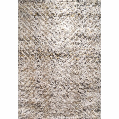 Dynamic Rugs AX9125811901 7 ft. 10 in. x 10 ft. 10 in. Aura 5811 Area Rug, 901 Grey & Ivory Perspective: front