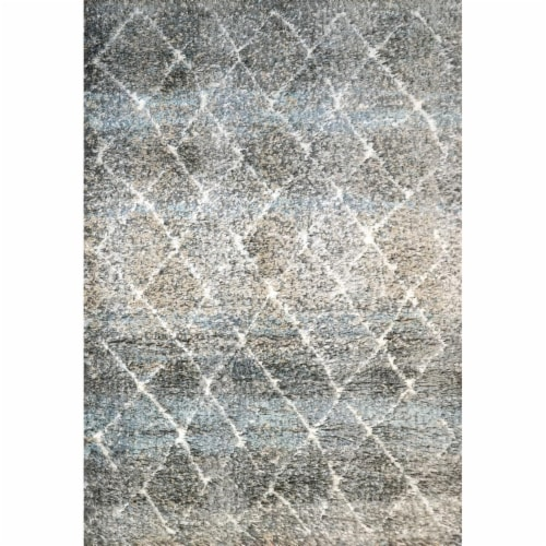 Dynamic Rugs AX9125812910 7 ft. 10 in. x 10 ft. 10 in. Aura 5812 Area Rug, 910 Grey & Ivory Perspective: front