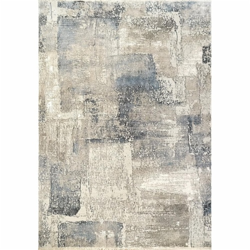 Dynamic Rugs RF284630890 Refine 2 ft. 2 in. x 7 ft. 7 in. Beige & Slate Area Rug Perspective: front