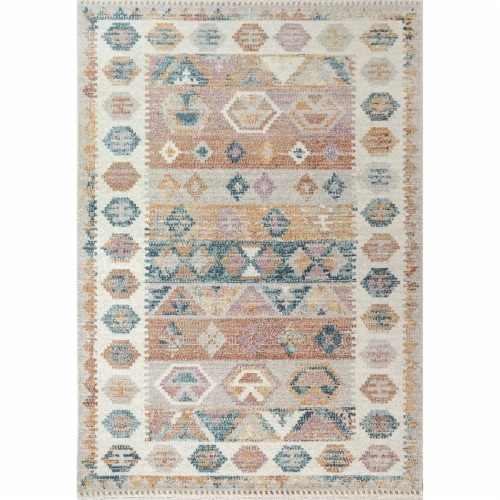 Dynamic Rugs CK287341999 Cobalt 2 ft. 2 in. x 7 ft. 7 in. Multi Color Area Rug Perspective: front