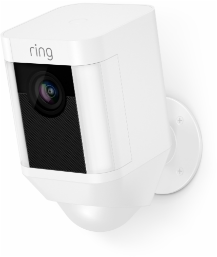 Ring™ Spotlight Battery Camera - White Perspective: front