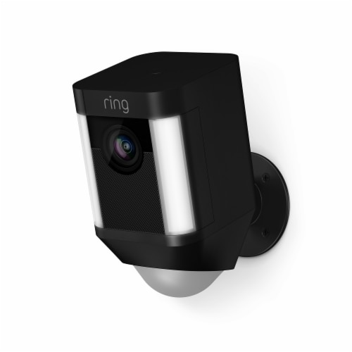 Ring™ Spotlight Battery Camera - Black Perspective: front